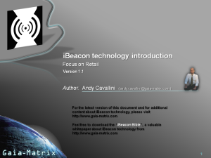 iBeacon technology introduction (Retail)