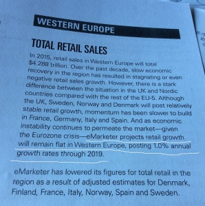 Retail outlook for Western Europe according to eMarketer